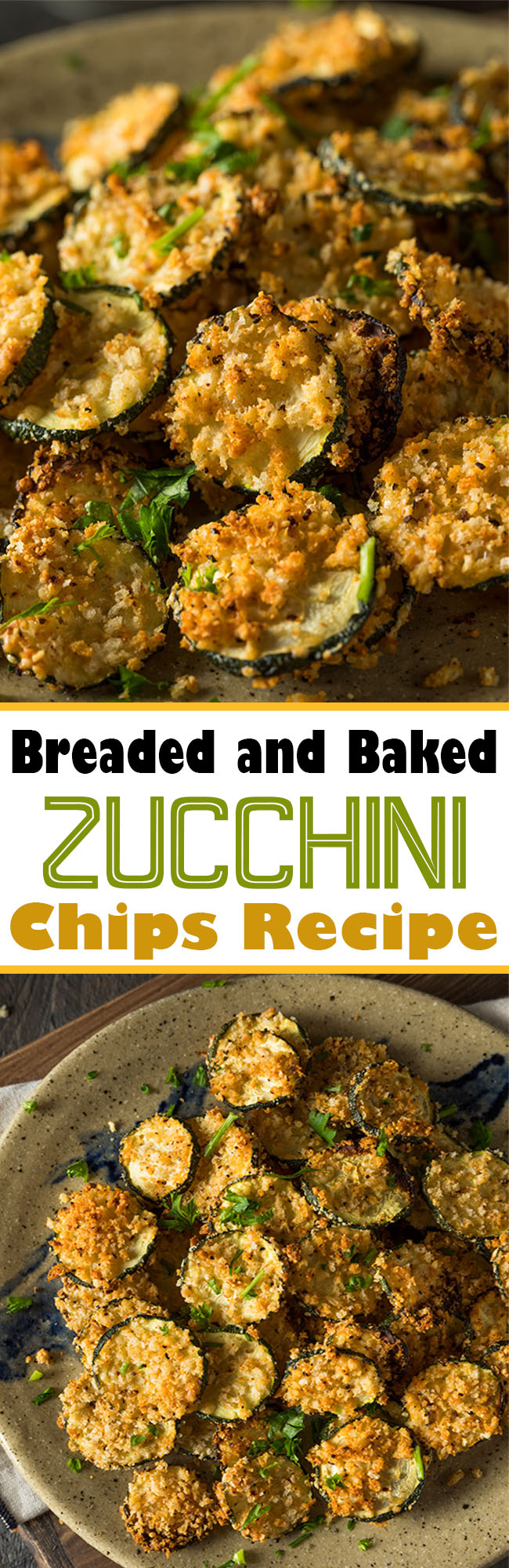 Breaded and Baked #Zucchini Chips Recipe