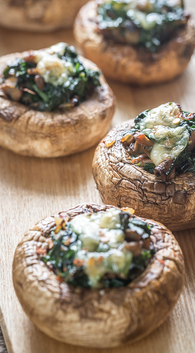 Cheese and #Spinach Stuffed #Portobellos